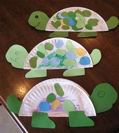 added a pink bow on top of the turtles head and then cut out different shapes and drew the shapes on the plate for Kobi to match them =)