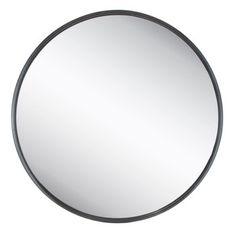 Black Thin Frame Round Metal Mirror - large and cheap - Hobby Lobby Large Circle Mirror, Black Round Mirror, Circular Mirror, Metal Mirror, Round Wall Mirror, Round Mirrors, Round Bathroom Mirror, Wall Mirrors, Sunburst Mirror