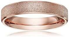 LOVE Beauties Brand New 4mm Women's Titanium Rose Gold Wedding Band Ring ,7