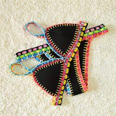 Multicolors Neo Crochet Bikini Swimsuit