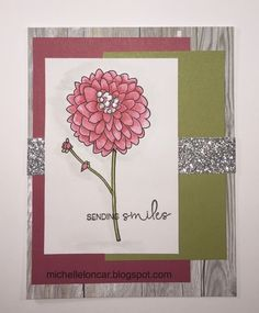 Show and Tell with Michelle: Color Dare #247 ~ Whisper, Pomegranate, Fern, Slate, Black and White with optional Silver