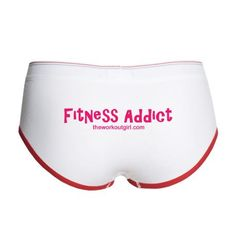 """Strut your stuff in this """"Fitness Addict"""" boy brief.  You cheeky minx, you.  Available only at http://www.theworkoutgirl.com/shop"""