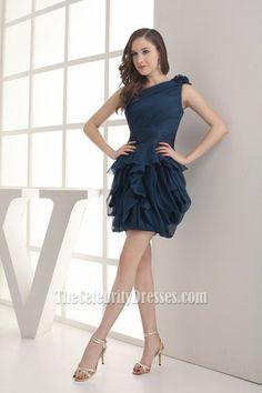 Celebrity Inspired Short One Shoulder Party Cocktail Dresses