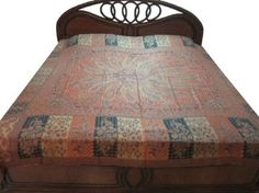 Amazon.com - Kashmir Pashmina Wool Bedspread Orange India Bedding Throw Blanket
