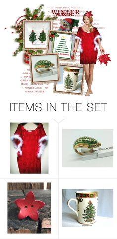 """""""Holidays Gifts by #EtsySpecialT 🎄🎁"""" by riagr ❤ liked on Polyvore featuring art and vintage"""