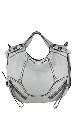 I am not much for white bags but this one is stunnning.  White Tegan Satchel by orYANY