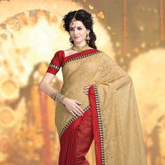 #Red #SilkSaree with Blouse Latest Indian Saree, Indian Sarees Online, Silk Sarees Online, Kerala Saree, South Indian Sarees, Trendy Sarees, Ethnic Looks, Saree Shopping, Ethnic Dress