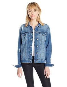 """The Cameron easy fit denim jacket is an easy fitting medium blue denim jacket with slight destruction and holes       Famous Words of Inspiration...""""A great part of courage is the courage of having done the thing before.""""   Ralph Waldo...  More details at https://jackets-lovers.bestselleroutlets.com/ladies-coats-jackets-vests/denim-jackets/product-review-for-joes-jeans-womens-cameron-easy-fit-denim-jacket/"""
