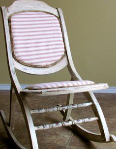 Farmhouse chic red and white ticking striped by LittleGoatChic, $100.00