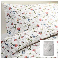 ALVINE ÖRTER Quilt cover and 4 pillowcases - 200x200/50x80cm - IKEA