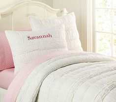 Lillian Quilted Bedding #pbkids