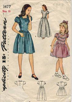 années 1940 simplicité 1477 Vintage Sewing par midvalecottage
