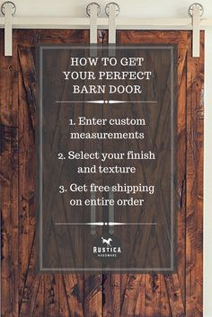 Get your perfect barn door today at Rustica Hardware.