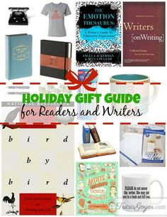 I pretty much love everything in this gift guide! These are such fun gifts for the reader, aspiring writer, or published writer in your life. These are fun twists on gifts that aren't your typical fiction or nonfiction books (although those make great gifts as well).