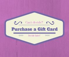 Can't decide what to get? Purchase a Jamberry Gift Card & decide later! (Or give it as a gift, & let them decide! (shipping & tax is included!) That's a present I wouldn't return!!!