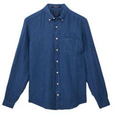 Gant The Linen Shirt Pilot Blue - £90 with FREE UK Delivery #Linen #Mens #Fashion #Gant #Summer