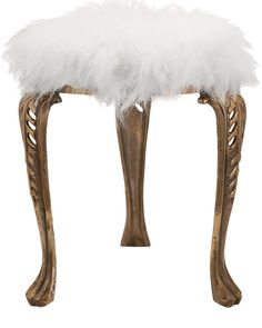 Spotted this Nikki Chu Neely White Fur Stool on Rue La La. Shop (quickly!).