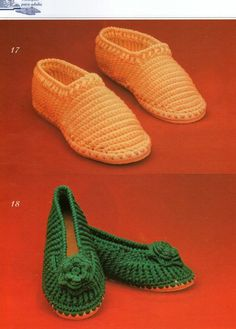 Site has many beautiful crochet slippers; instructions are in Spanish, but there are diagrams.