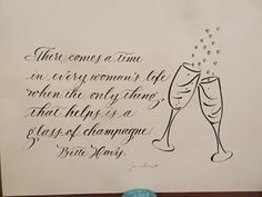 From www.letterladysletters.blogspot.com a cute calligraphy saying as a gift for a friend