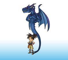 Shu (Blue Dragon) - Blue Dragon - Tenkai No Shichi Ryu - Image - Zerochan Anime Image Board Dragon Boat, Dragon Quest, Blue Dragon, Best Anime List, Anime Shadow, Dragon Poses, Dragon Hunters, Dragon Ball Image, Dragon Images