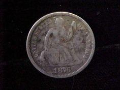 1876 Seated Liberty Dime VF Condition Nice Original Collectors Piece | eBay