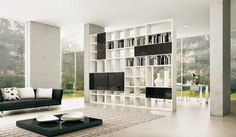 Libreria salón estilo minimalista