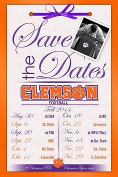 2014 Clemson Tiger Football Schedule