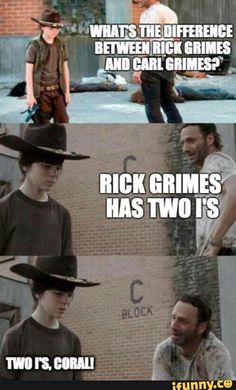 Page 2 of 160 - The Walking Dead Memes that live on after the characters and season ended. Memes are the REAL zombies of the show. Walking Dead Coral, Carl The Walking Dead, The Walk Dead, Walking Dead Funny, Walking Dad Jokes, Bad Dad Jokes, Boku No Pico, Origami Decoration, Twd Memes
