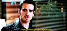 """""""A mirror? Easy enough, Let's just go smash it"""" - Hook - 4 * 6 """"Family Business."""" #CaptainSwan"""