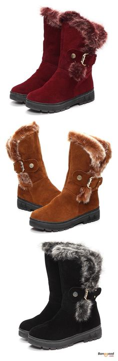 US$32.99 + Free shipping. Women Winter Boots Ankle Short Boots Artificial Fur Snow Boots. Women's shoes boots, womens winter fashion,fall winter outfits. Get the look!