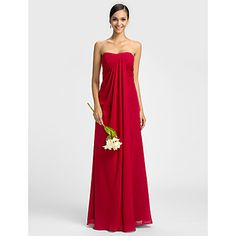 Dress - Ruby Plus Sizes / Petite Sheath/Column Sweetheart Floor-length Chiffon – USD $ 89.99