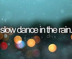 slow dance in the rain