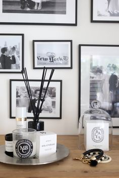 Homevialaura | gallerywall | diptyque Baies | Byredo | By Malene Birger | scented candles | room scent