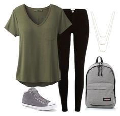 """Untitled #225"" by aryasally ❤ liked on Polyvore featuring River Island, prAna, Converse, Eastpak and ERTH"