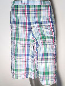 Alfred Dunner Shorts Plaid Classics Size 20 Elastic Waist Multi Color New   eBay