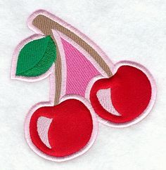Cherry Pair Patch (Applique)