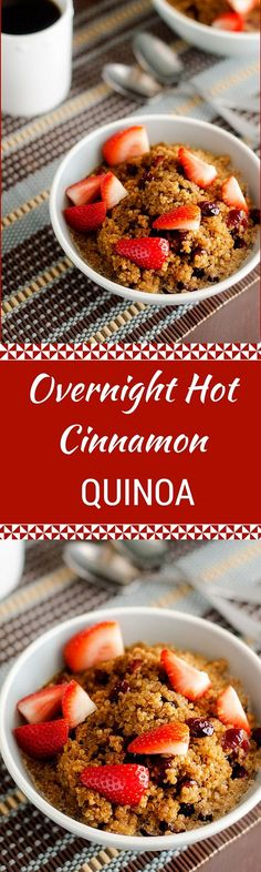 Overnight Hot Cinnamon Quinoa - This easy to make healthy breakfast solution is the perfect way to start your day!  - WendyPolisi.com