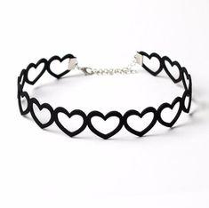 Black Velvet Choker Necklace, Silver Pendant Necklace, Black Necklace, Black Love Heart, Lotus, Tattoo Choker, Spike Necklace, Heart Choker, Handmade Jewelry Designs