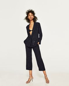 ZARA - COLLECTION AW/17 - LOOSE-FITTING JACQUARD TROUSERS