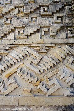 Grecas wall patterns at Mitla