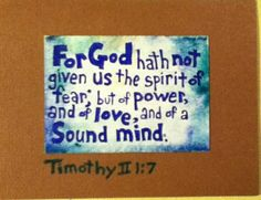 A personal favorite from my Etsy shop https://www.etsy.com/listing/239158676/timothy-ii-1-7-card-and-envelope