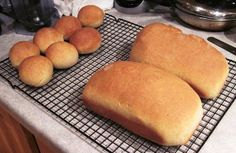 Easy homemade sandwich bread freezes well. Ingredients     1 egg + warm water to equal 1 1/3 C     1/4 C melted butter     1/4 C sugar     1 1/2 tsp sea salt     4 C bread flour (1/2 organic white bread flour + 1/2 fresh ground hard white winter wheat.  If use 100% whole wheat, dough will be heavier.)     1 1/2 tsp instant yeast/bread machine yeast or 2 teaspoons active dry yeast