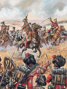 """General Édouard de Colbert and his Red Lancers, Waterloo""   Jack Girbal"