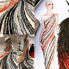 Designed by Tani Bland & Susie Suh for Bob Mackie. Fashion Illustration Tutorial, Fashion Illustration Dresses, Illustration Mode, Fashion Illustrations, Fashion Art, Fashion Models, Girl Fashion, Fashion Outfits, Fashion Design Drawings