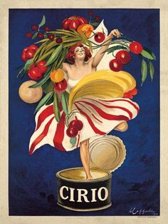 VintageArte - Leonetto Cappiello Cirio Vintage Poster : Posters and Framed Art Prints Available Vintage Italian Posters, Pub Vintage, Vintage Advertising Posters, Vintage Advertisements, Vintage Food, Retro Poster, Poster S, Poster Prints, Art Posters