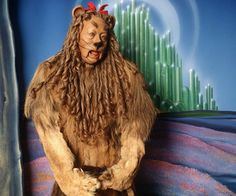 Bert Lahr in his Cowardly Lion costume