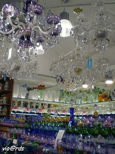Crystal stores are rampant, many glass vases, crystal, decorative glass, beads, etc are produced in the Czech Republic and Slovakia.