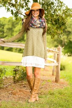 Take A Backroad Sweater-Olive