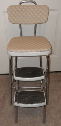 Hey, I found this really awesome Etsy listing at https://www.etsy.com/listing/184569495/rare-vintage-cosco-step-stool-adjustable   My grandmother had a chair like this in her kitchen. <3
