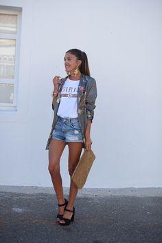 Shirt Dress, T Shirt, Denim Shorts, Hipster, Dresses, Style, Fashion, Supreme T Shirt, Vestidos